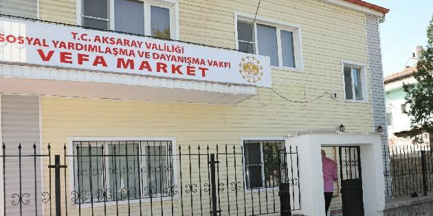 Vefa Market'e anlamlı bağış