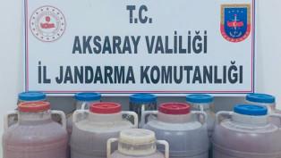Aksaray'da 500 litre kaçak şarap ele geçirildi