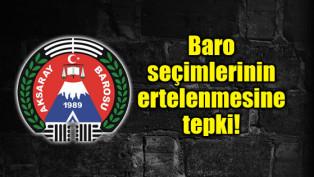 Baro seçimlerinin ertelenmesine tepki!