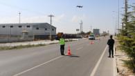 Aksaray'da jandarma drone ile denetim yaptı