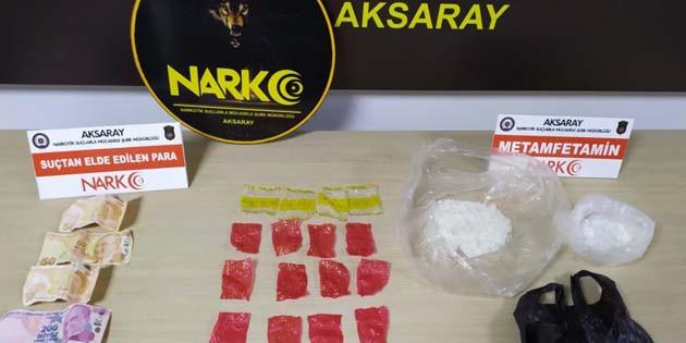 Aksaray'da uyuşturucu madde ticareti yapan şahıslara operasyon