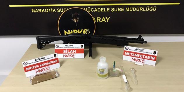Aksaray'da 3 ayrı uyuşturucu operasyonu! 4 gözaltı