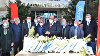 Aksaray'da öğretmenler için 40 bin fidan dikildi