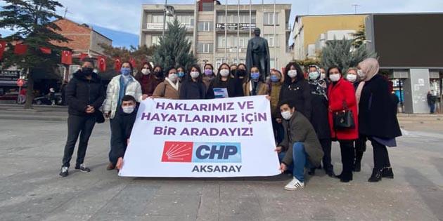 CHP ve Eğitim-Sen'den Kadına Şiddete Hayır açıklaması