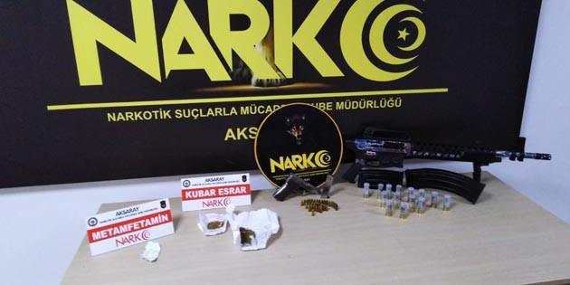 Aksaray'da 7 farklı adrese eş zamanlı uyuşturucu operasyonu