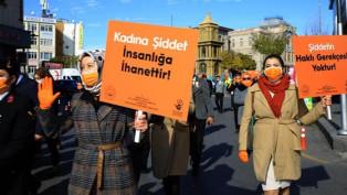'Kadına Şiddete Hayır' farkındalığı için yürüdüler