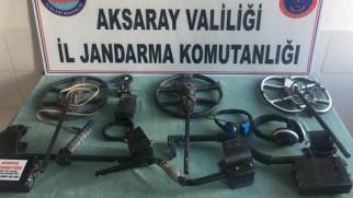 Aksaray'da kaçak kazı yapan 3 kişiye suçüstü