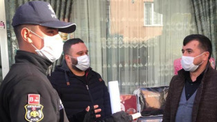 Aksaray'da polisten Kovid-19 denetimi