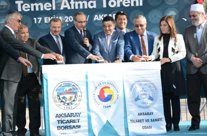 Aksaray Mesleki ve Teknik Anadolu Lisesi'nin temeli atıldı