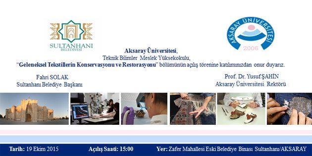 Sultanhanı Beldesi'ndeki bölüm Türkiye'de bir ilk oldu