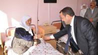 Milletvekili adayı Serdengeçti hastaları ziyaret ederek karanfil verdi
