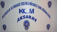 Aksaray KOM ekipleri 10 ayda 416 operasyon yaptı