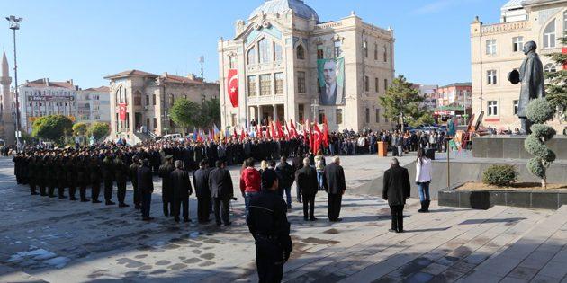 Büyük önder Mustafa Kemal Atatürk, Aksaray'da anıldı
