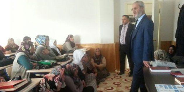 Müftü Bal Kur'an kursu ziyaretlerine devam ediyor