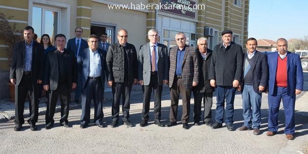 Aksaray Valisi Şeref Ataklı'dan, Aksaray Ticaret Borsası Ziyareti