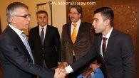 Öğrenci Meclis Başkanı Recep Baylan Vali Ataklı'yı ziyaret etti