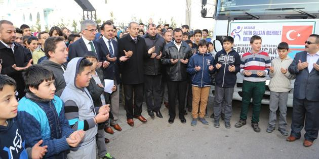 Bayırbucak Türkmenlerine Aksaray'dan destek