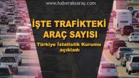 Aksaray'da trafiğe kayıtlı araç sayısı 104 bin 534