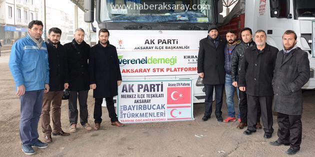 Aksaray'dan Bayır-Bucak Türkmenleri'ne 4 tır yardım