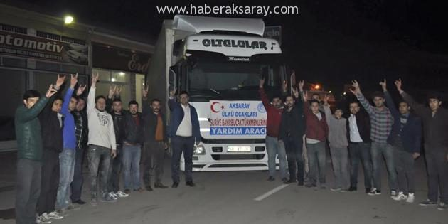 Aksaray Ülkü Ocakları'ndan Bayır Bucak Türkmenlerine yardım