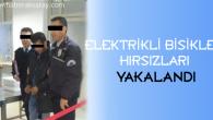 Elektrikli bisiklet hırsızları yakalandı
