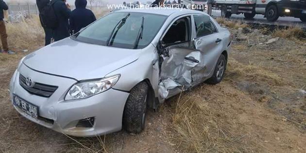 Başkan'ın makam aracı kaza yaptı