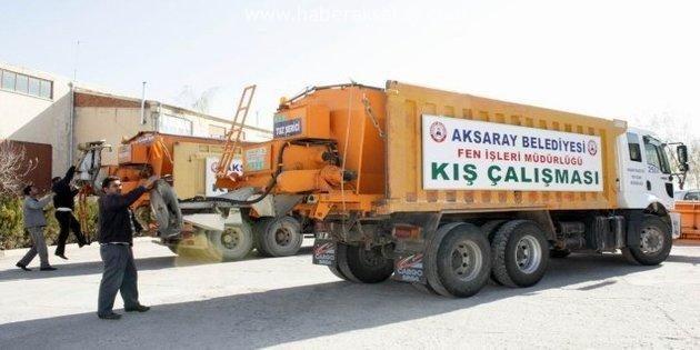 Aksaray Belediyesi kışa hazır