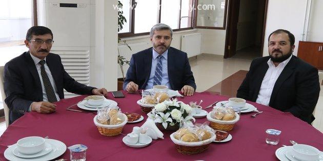 Rektör Yusuf Şahin - Tuncay Atak - Fatih Ünsal