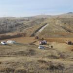 Sarıyahşi Sarıbük Göleti'nde çalışmalar devam ediyor