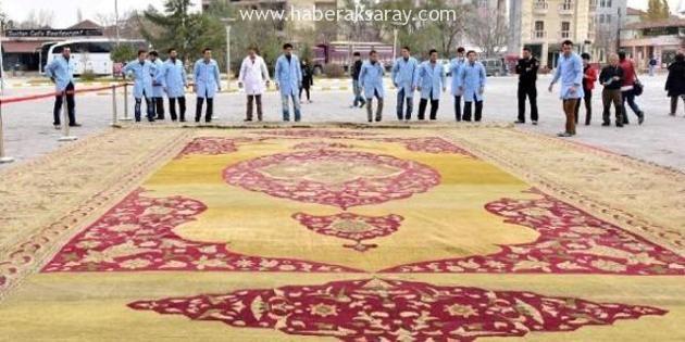 Sultan 2. Abdülhamid'in halıları Sultanhanı'nda restore edildi