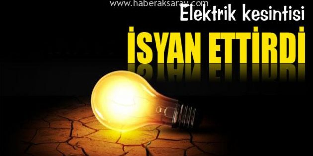 Mahalleli elektrik kesintisine isyan etti
