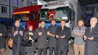 AK Parti'nin 4 tırlık yardımı dualarla yola çıktı