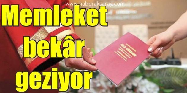 TÜİK Aksaray'da bekar nüfusu açıkladı