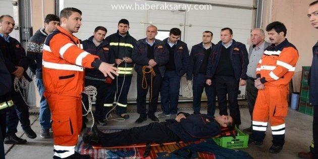 Aksaray Belediyesi İtfaiye Personeline uygulamalı eğitim