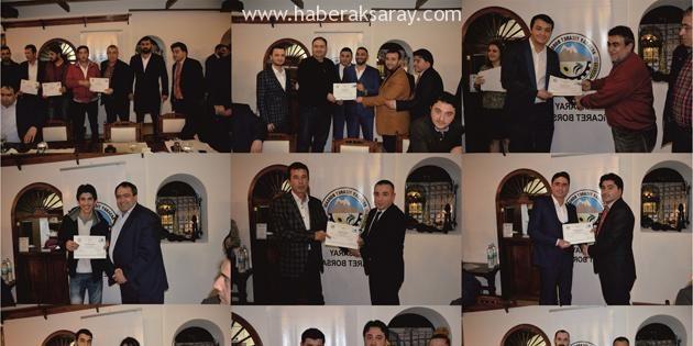 Aksaray'da 30 kursiyere sertifikaları verildi