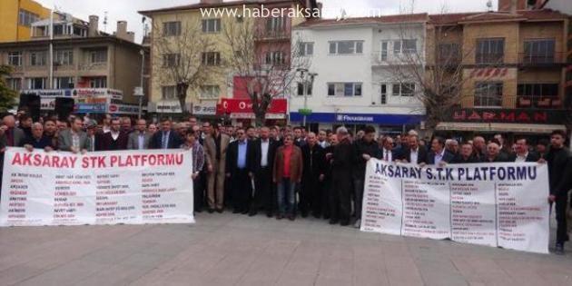 Aksaray'da teröre karşı sessiz yürüyüş