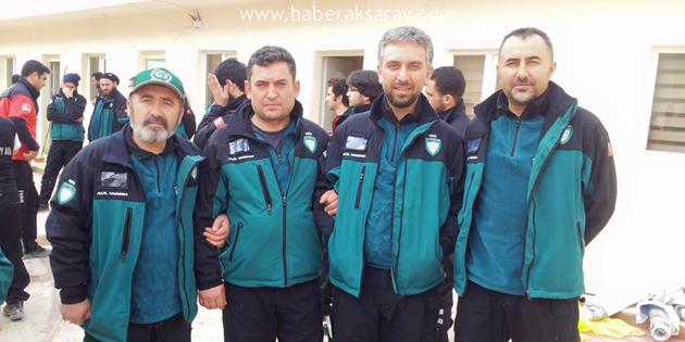 Aksaray İHH Acil Yardım Birimi Kilis'te