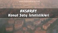 Aksaray'da Haziran ayında 365 konut satıldı