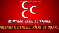 MHP Aksaray İl ve İlçe Teşkilatları kapatıldı!