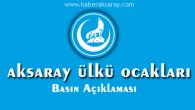 Aksaray Ülkü Ocakları'ndan Basın Açıklaması