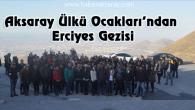Aksaray Ülkü Ocakları Erciyes'in zirvesinde