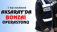 Aksaray'da bonzai operasyonu