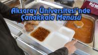 ASÜ'de Çanakkale Menüsü