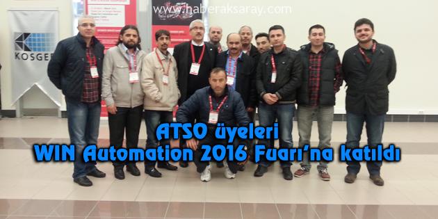 ATSO üyeleri WIN Automation 2016 Fuarı'na katıldı