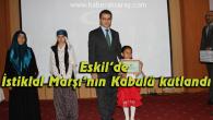 Eskil'de İstiklal Marşı'nın Kabulü kutlandı