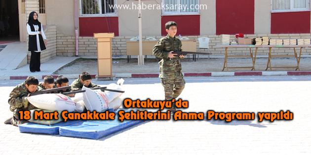 Ortakuyu'da 18 Mart Çanakkale Şehitlerini Anma Programı yapıldı