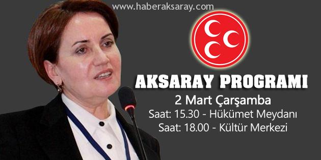 Aksaray, Meral Akşener'i ağırlıyor