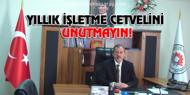 yillik-isletme-cetveli-aksaray-haberleri
