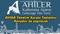 AHİKA Yönetim Kurulu toplantısı Nevşehir'de yapılacak