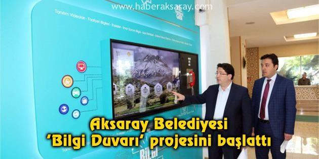 Aksaray Belediyesi 'Bilgi Duvarı' projesini başlattı
